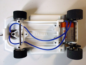 Slot car chassis for 911 GT1 1/28 in White Strong & Flexible