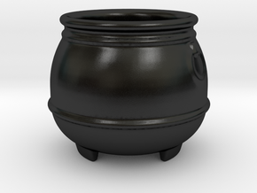 Cauldron Shot Glass in Matte Black Porcelain