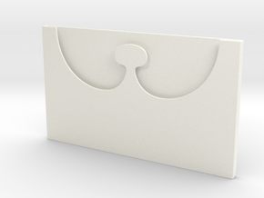 Slim Card Holder in White Processed Versatile Plastic