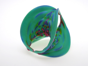 Hyperbole 04 Color Sculpture in Glossy Full Color Sandstone