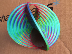 Hyperbole 02 Color Sculpture in Glossy Full Color Sandstone