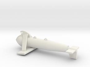 1/96 Scale Paravane in White Natural Versatile Plastic