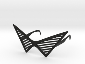 Triangle Glasses in Black Natural Versatile Plastic