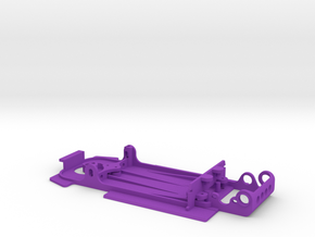Slot car chassis for 458 GT2 in Purple Strong & Flexible Polished