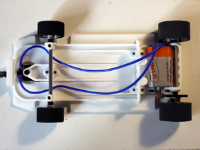 Slot car chassis for 458 GT2 in White Natural Versatile Plastic