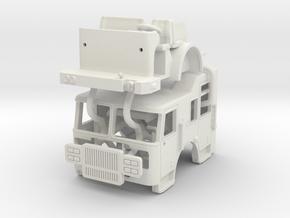 1/64 Seagrave Marauder II Split Roof cab in White Natural Versatile Plastic