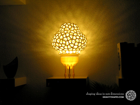 Big Space-Rocket-Lamp (37 cm high, 3 parts) in White Natural Versatile Plastic