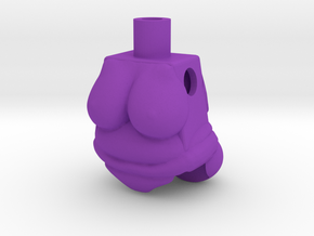 Big Beautiful Woman Lego Torso in Purple Strong & Flexible Polished