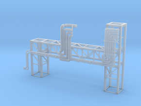 N Pipe Bridge Special 110mm in Smooth Fine Detail Plastic