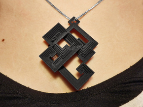 Bismuth pendant in Black Strong & Flexible