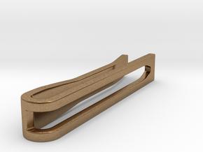 Minimalist Tie Bar - Wedge (1.5 In) in Natural Brass