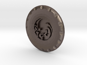 Golf Ball Marker House Targaryen in Polished Bronzed Silver Steel