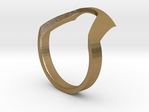 Static Ring - SIZE 7 in Polished Gold Steel