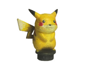 Custom Pikachu Inspired Figure for Lego in White Natural Versatile Plastic