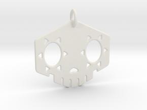 "2"" Sombra Skull Keychain in White Natural Versatile Plastic"