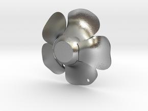 Rafflesia Key-Chain in Raw Silver