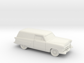 1/87 1952 Ford Courier Sedan Delivery in White Natural Versatile Plastic