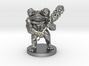 Toad Warrior for Dungeons and Dragons in Natural Silver