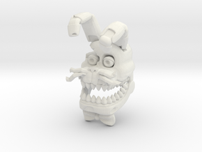 Custom Scary Rabbit in White Natural Versatile Plastic