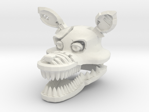 Custom Scary Wolf in White Natural Versatile Plastic