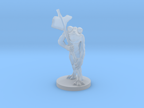 Frog Warrior for Dungeons and Dragons in Smooth Fine Detail Plastic