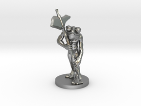 Frog Warrior for Dungeons and Dragons in Natural Silver