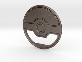 PokeBall Bottle Opener in Polished Bronzed Silver Steel