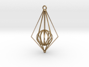 Christmas Tree Ornament in Polished Gold Steel