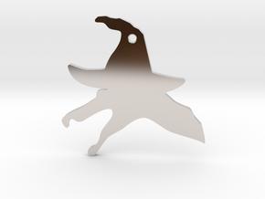 Halloween Spinosaurus in Rhodium Plated Brass