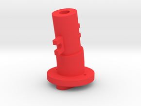 Thrustmaster joystick tailpiece, 13 deg. angle in Red Processed Versatile Plastic