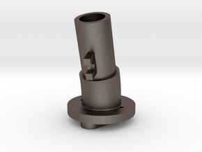 Thrustmaster tailpiece, 13° ang. 15°off. - M in Polished Bronzed Silver Steel