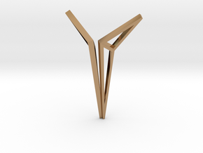 YOUNIVERSAL Origami Structure, Pendant. Sharp Chic in Polished Brass