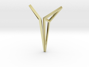 YOUNIVERSAL Origami Structure, Pendant in 18K Gold Plated
