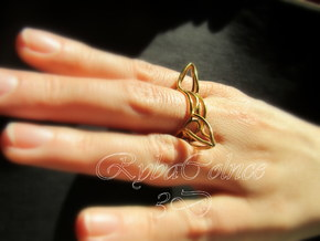 Ring The triangle/ size 6 US (16.5 mm) in 14k Gold Plated