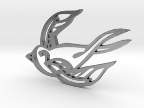 Swallow in Natural Silver