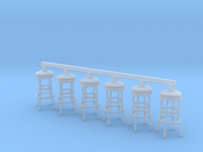 Soda Fountain Bar Stool 02. 1:32 Scale in Smooth Fine Detail Plastic