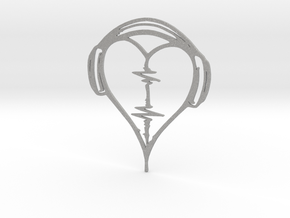 Musical Heart Pendant in Aluminum
