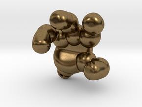 googie robot hand in Natural Bronze
