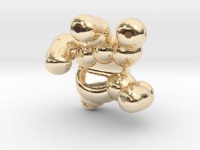 googie robot hand in 14K Yellow Gold