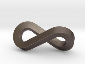infinity-moebius pendant in Polished Bronzed Silver Steel