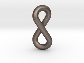 infinity pendant in Polished Bronzed Silver Steel