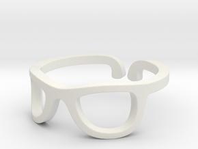 Glasses Ring Ring Size 7.25 in White Natural Versatile Plastic