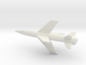 1/200 Scale Lacrosse Missile in White Natural Versatile Plastic