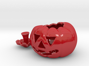Pumpkin Porcelain in Gloss Red Porcelain: Small