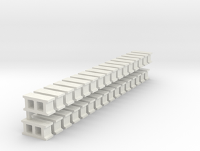 Cinderblocks in O Scale in White Strong & Flexible
