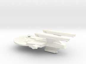 Uss Ticonderoga in White Processed Versatile Plastic