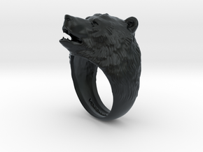 Bear ring in Black Hi-Def Acrylate