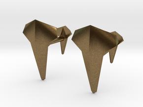 AERO Cufflinks. Individual Elegance in Natural Bronze