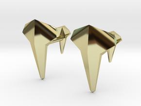 AERO Cufflinks. Individual Elegance in 18k Gold Plated Brass