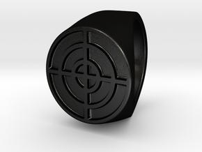 Target - Signet Ring in Matte Black Steel: 6 / 51.5